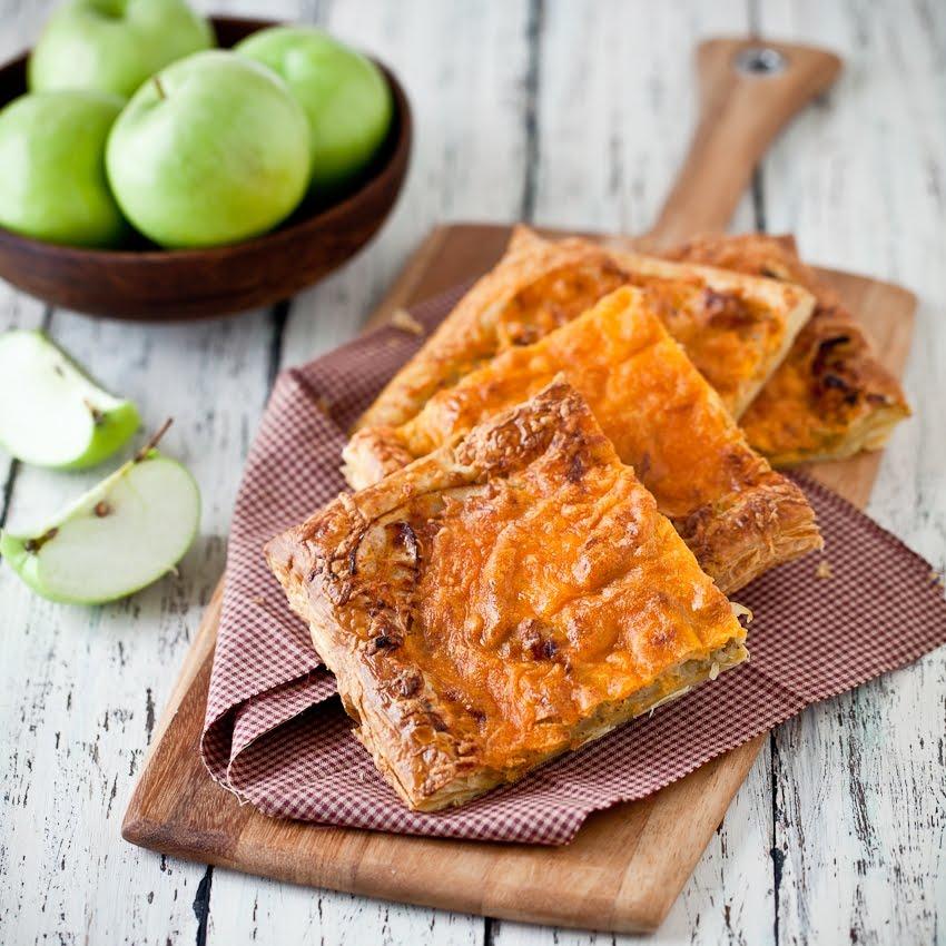 Charleston Chow: Sage Green Apple and Aged Cheddar Tart
