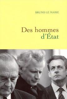 Couverture du livre Des hommes d'état de Bruno Le Maire