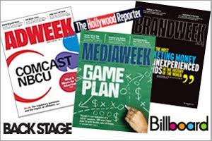 couverture des magazines américains Mediaweek, Backstage, Billboard, Film Journal International et The Hollywood Reporter