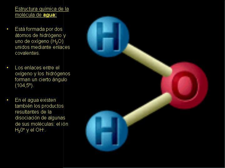componente quimico del agua: