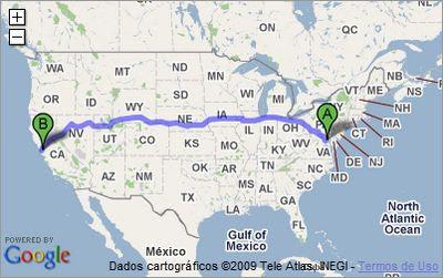 Atravessando os Estados Unidos em timelapse