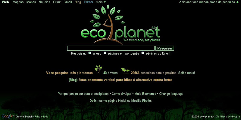 eco4planet, um buscador sustentável