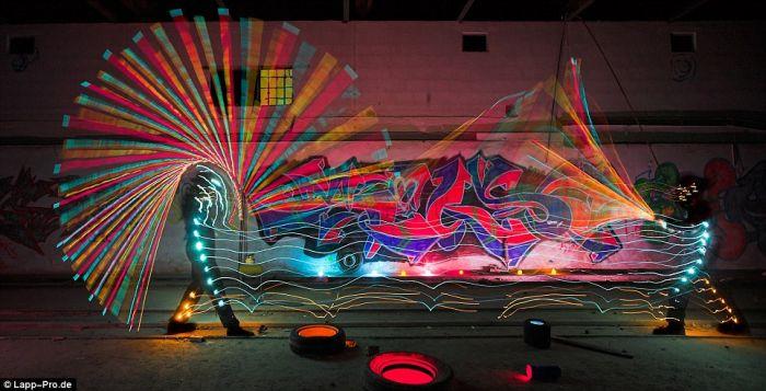 Graffiti com luz