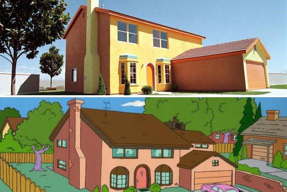 A réplica da casa dos Simpsons