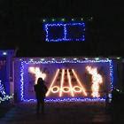 Guitar Hero com luzes de Natal