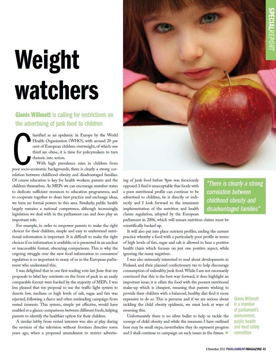 magazine article childhood obesity