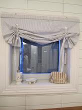 Ny gardin til vinduet på badet!