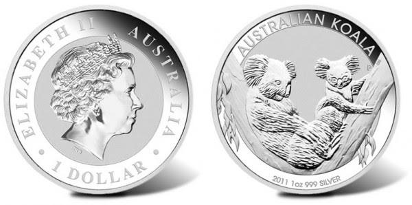 Bullion Collection 2011 Australian Koala Silver Coins