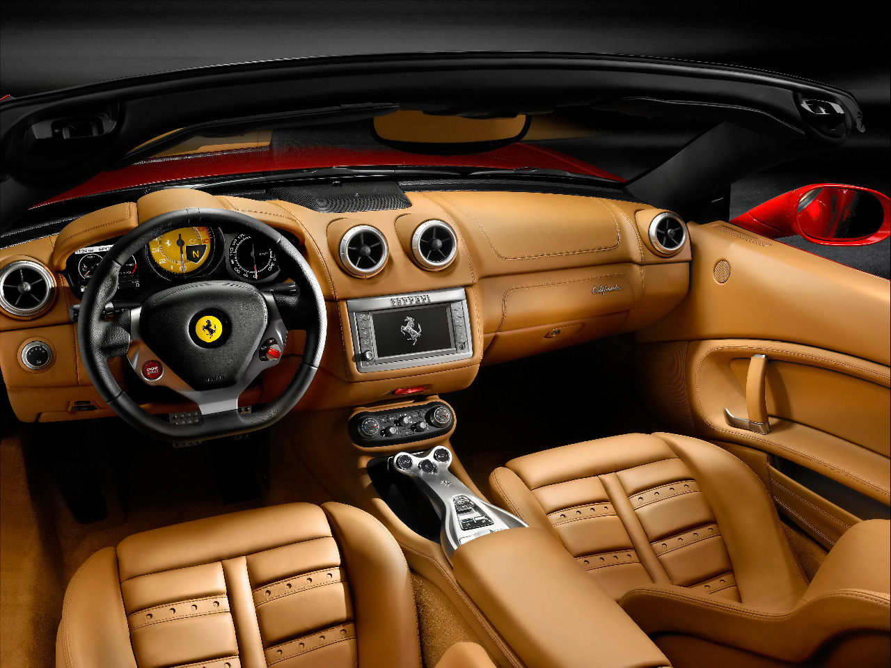 Best wallpapers ferrari california wallpapers for Interieur voiture de luxe