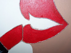 Red Lipstick Original POP art Painting