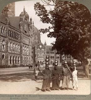 Victoria Terminus, Mumbai, Bombay 100 years ago