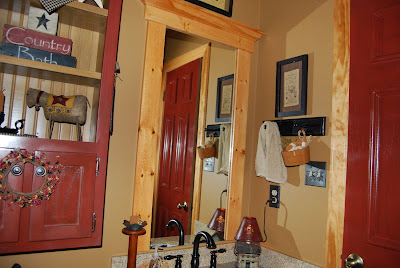 "Country Girl at Home: Our ""Rustic Prim"" Bathroom (Lots of Pictures"