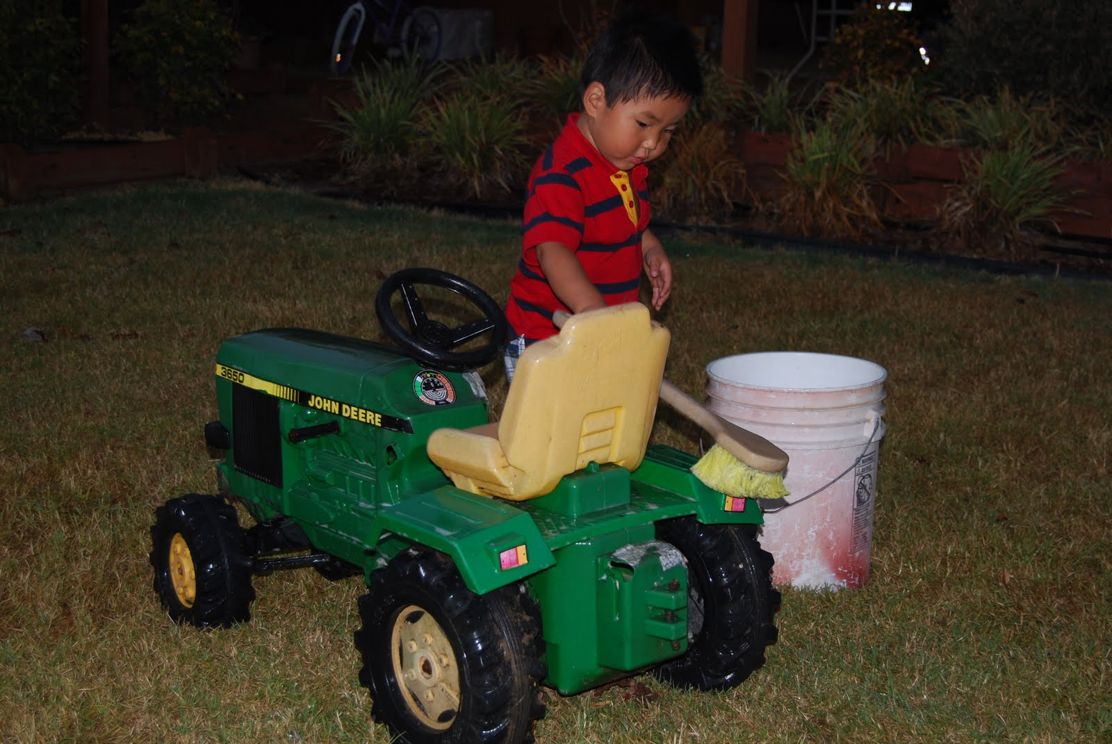Boy On Tractor : Country girl at home a boy and his tractor