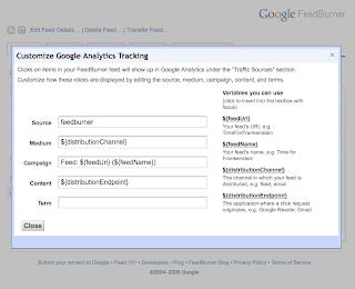 Google FeedBurner Tracking