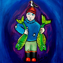 I's the B'y That Catches The Fish (Acrylic on Canvas)