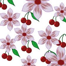Cherries and Flowers