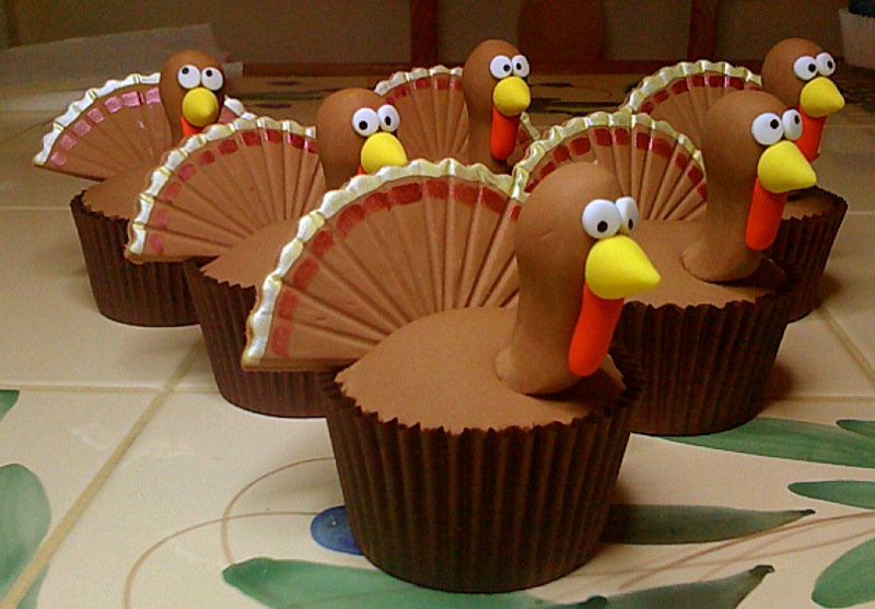 Cupcakes For Thanksgiving Decorating Ideas