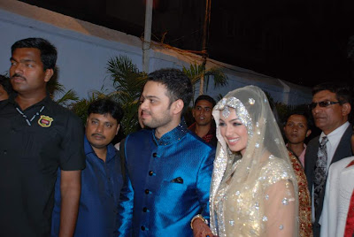 Wedding Reception on Husband Farhan Azmi On The Day Of Their Reception Of The Wedding The