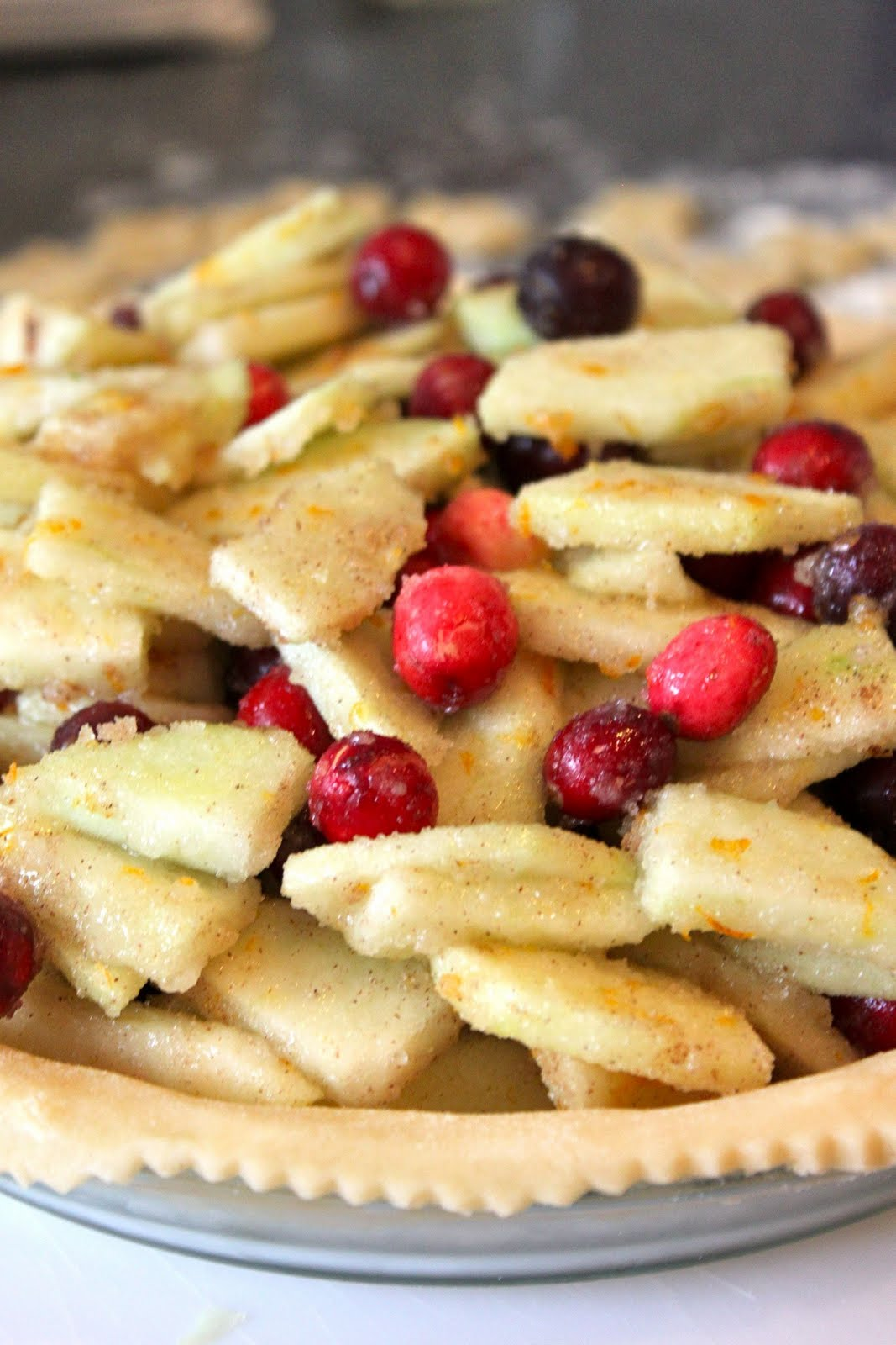 Baked Perfection: Cranberry Apple Pie
