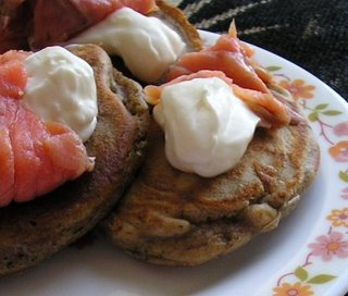Buckwheat pancakes with smoked salmon - Betty's Healthy ...
