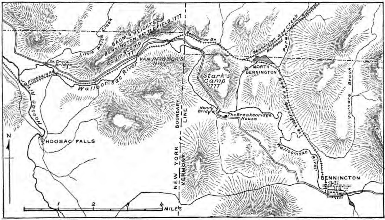 Vermont To Celebrate Battle Of Bennington The New York History Blog - New york vermont map