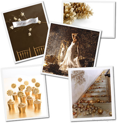 Gold And White Wedding Decorations. Or maybe crisp white with warm