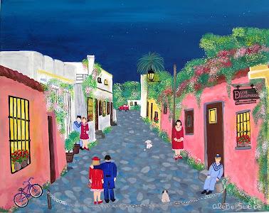 """""""Calle de los suspiros II"""" Colonia Uruguay"""