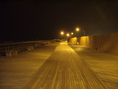 The Jones Beach Board Walk - goes on forever..