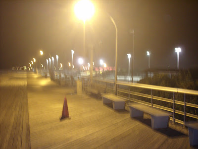 Another shot of the Jones Beach Board Walk with a cone.