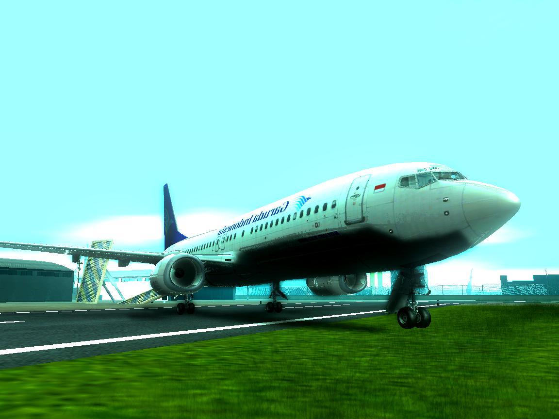 b737 garuda indonesia plane gta free mods