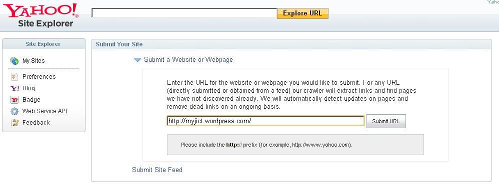 how to list my website on Yahoo? | Yahoo Respuestas