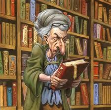 Bibliotecaria vieja y fea