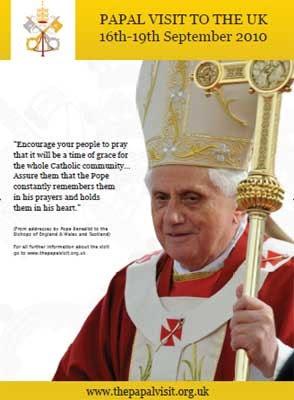 Benedicto XVI en Inglaterra