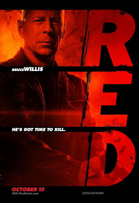 Red Poster - Bruce Willis
