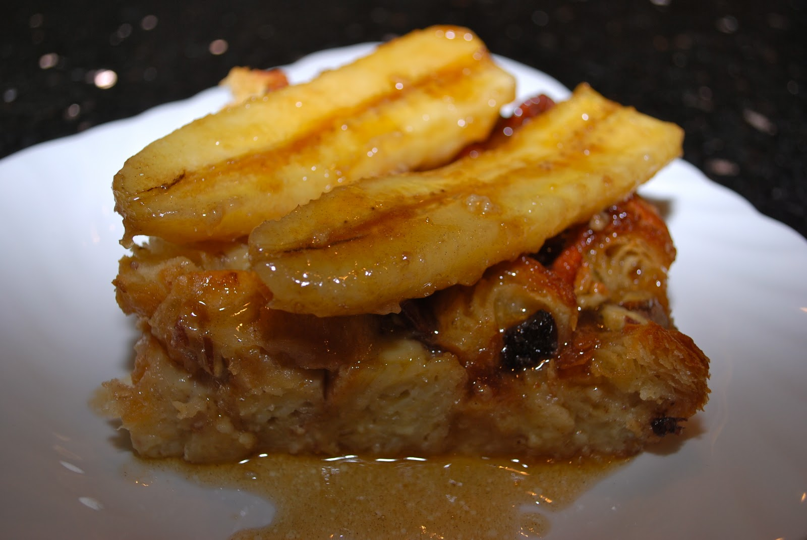 The Flying Foodie: Bananas Foster Bread Pudding