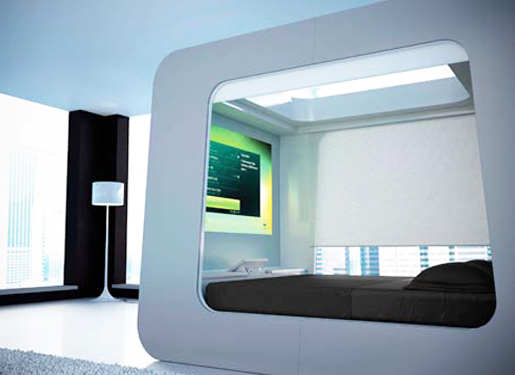 Modern Canopy Beds With Full Multimedia Design HOME