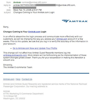 Suspicious-looking Amtrak mail