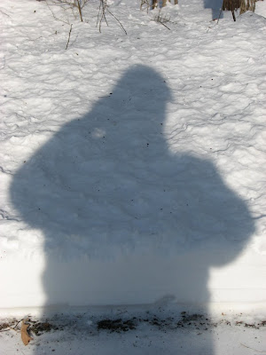 Self-portrait, shadow on snow