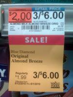 Sale price for almond milk