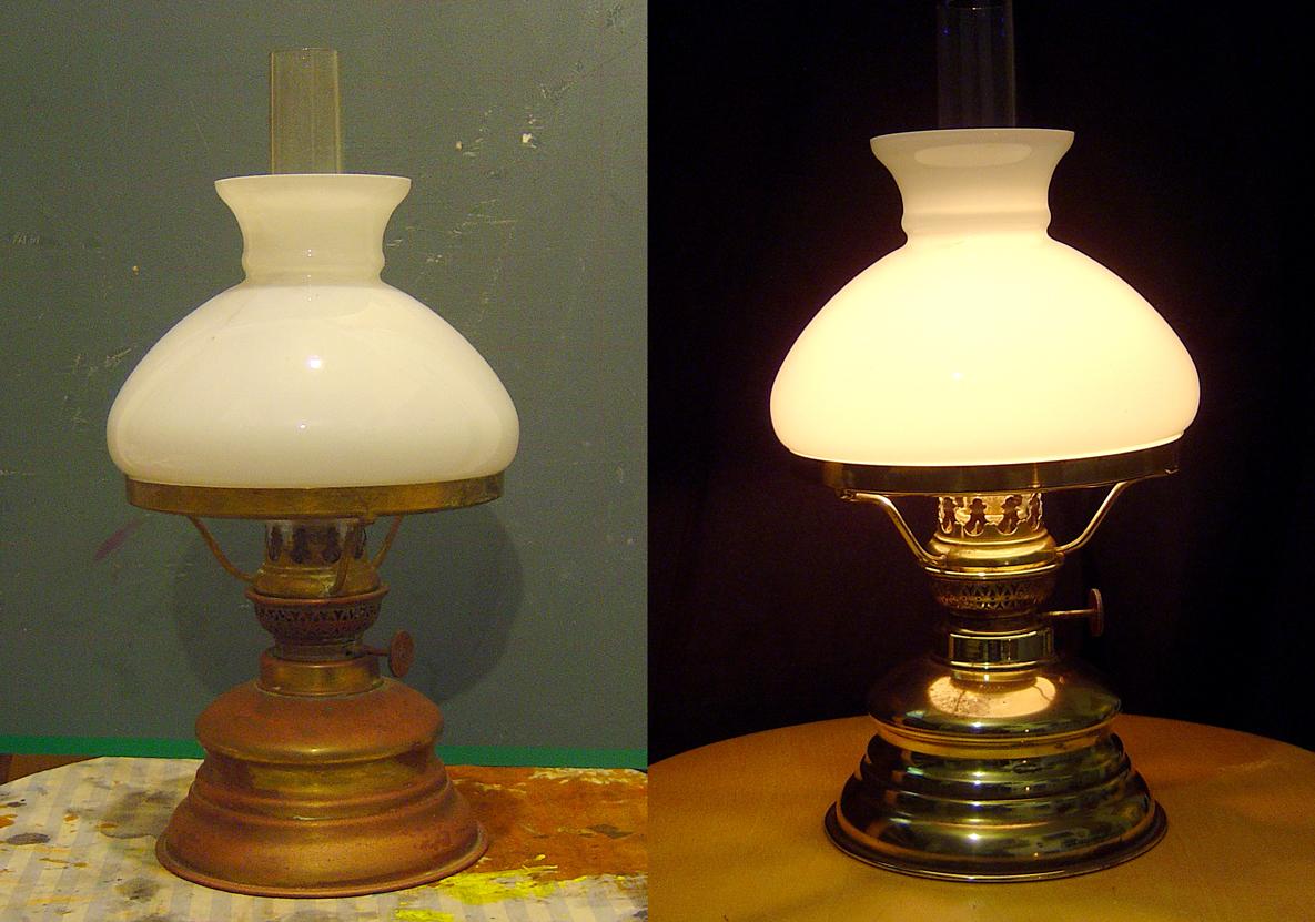 tak 39 s pinpong lampes p trole avant apr s. Black Bedroom Furniture Sets. Home Design Ideas