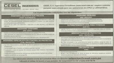 Quiero trabajo en mina trabajo en cesel ingenieros for Trabajo de electricista en malaga