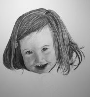child portrait charcoal drawing step 3