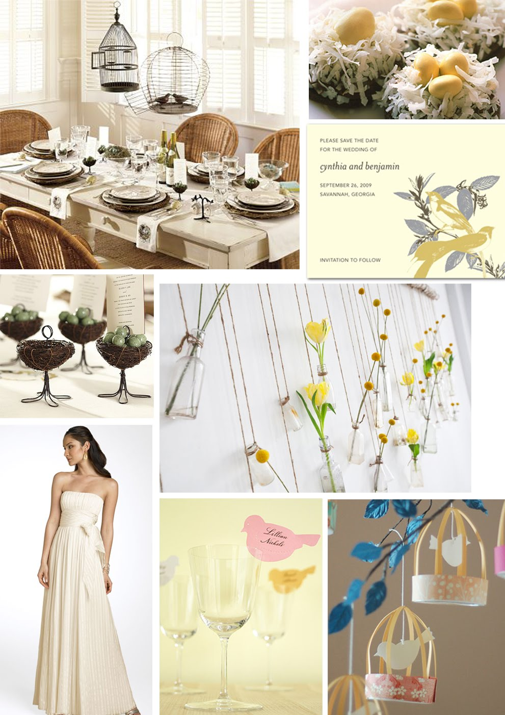 your wedding support get the look bird themed wedding