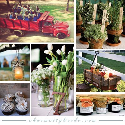 Country Themed Wedding Ideas on Your Wedding Support  Get The Look   Farm Chic Themed Wedding