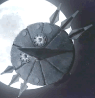 La colonia espacial Ark, girando sobre nuestro pequeño planeta