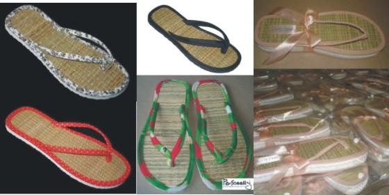 sandalias de palha
