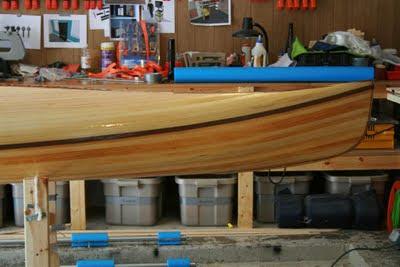 Wood Strip Kayak Fiberglass Resin Join Deck