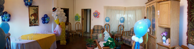 decoracion con globos baby shower
