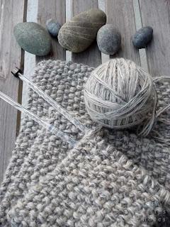 Petites choses point de riz pour une echarpe - Quel point pour tricoter une echarpe ...
