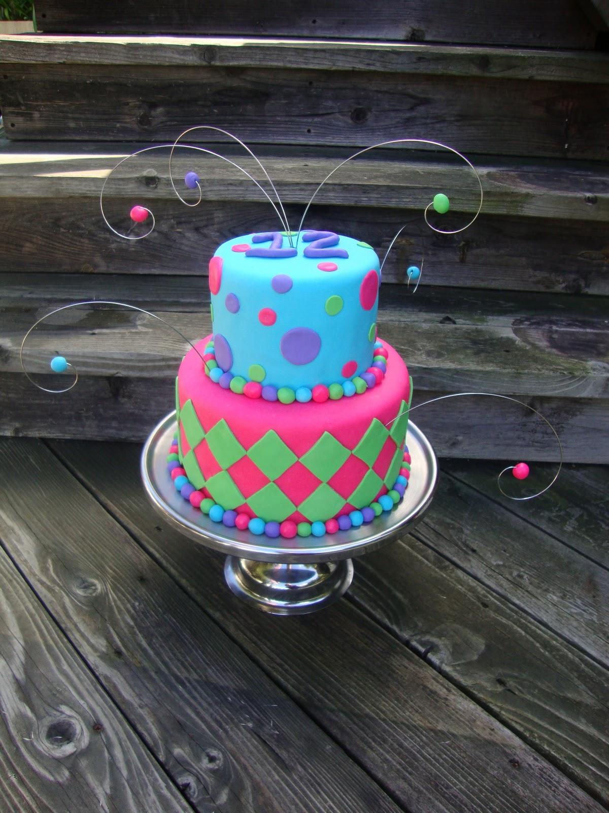 Caramel Cup 12th Birthday Cake